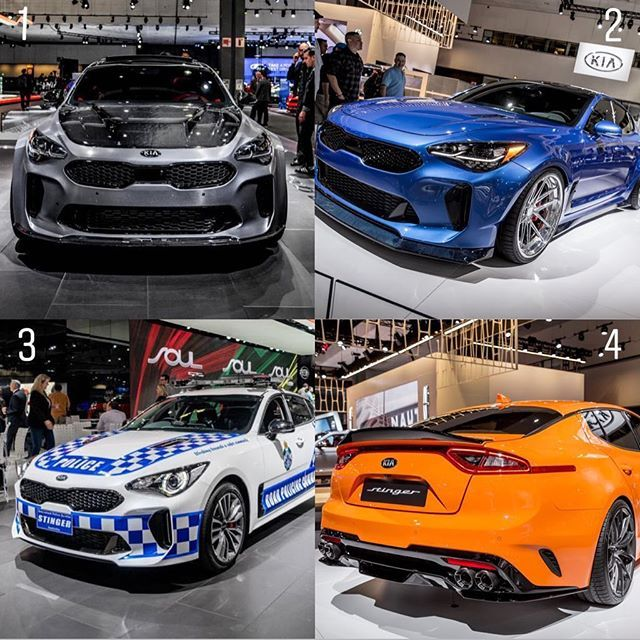 1 2 3 Or 4 For Your Laautoshow Kia Stinger Kia Stinger Kia Kia Ceed