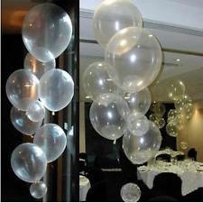 """100pcs 12"""" transparente de látex Pearl Globos Fiesta Boda Cumpleaños Aniversario Decoración"""