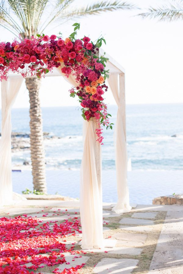 mexican inspired beach wedding arbour - brides of adelaide