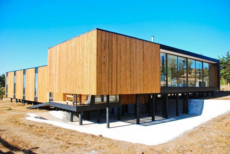 Diseño propio LAARQ, arquitectura en madera, segunda vivienda, Pichilemu, Chile