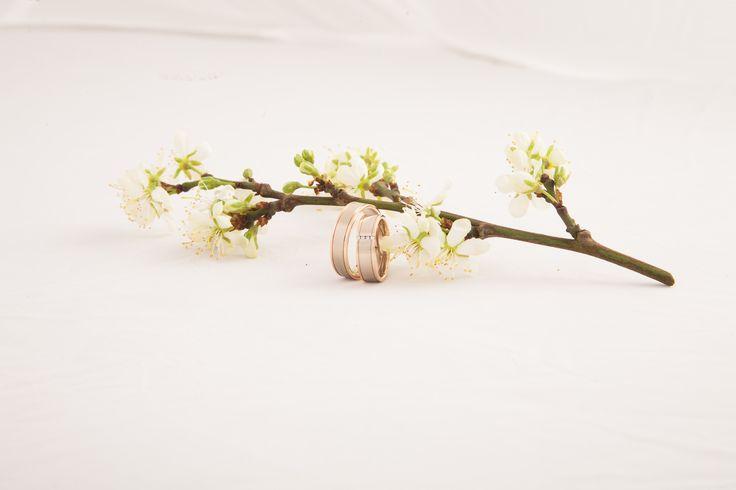 schitterende ringen in pruimenbloesem  Juwelier Goudsmederij Mariska Timmer Geldermalsen