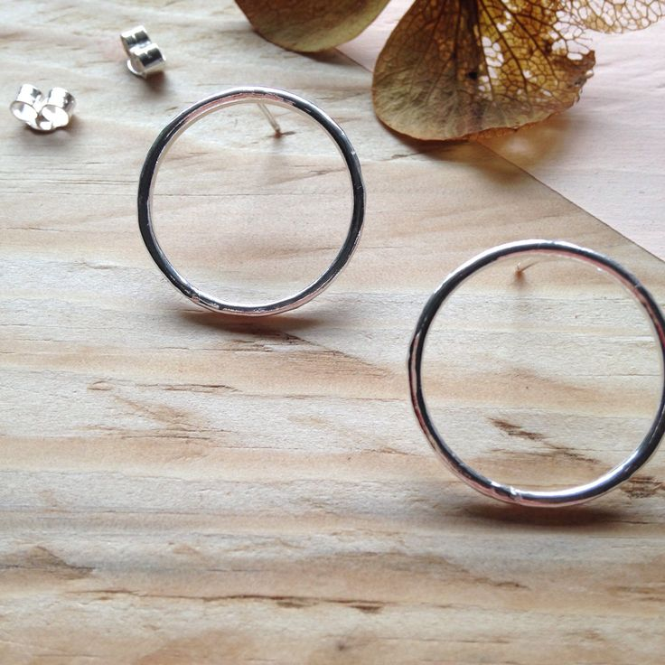 A personal favourite from my Etsy shop https://www.etsy.com/uk/listing/567717284/hammered-circle-studs-simple-circle
