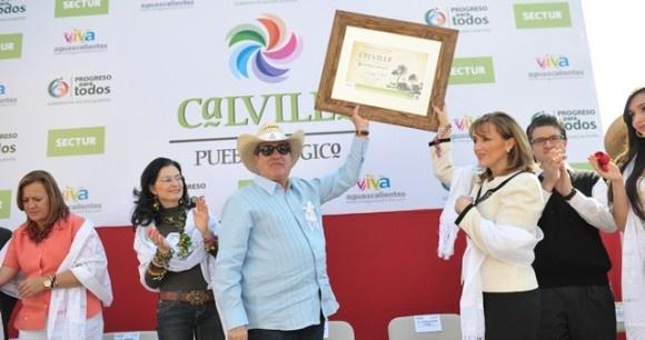 Carlos Lozano y Gloria Guevara en Calvillo, Aguascalientes