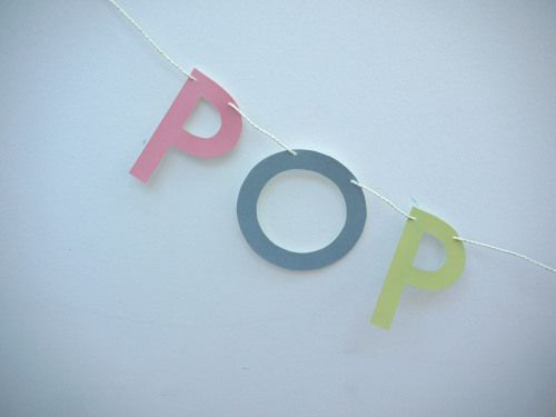 Close up of our POP FIZZ CLINK letter banner. ~New Year's Eve party~ This letter banner is great for any occasion when you're getting something sparkling out!    Handmade party decorations Check out our store - paperstreetdolls.etsy.com