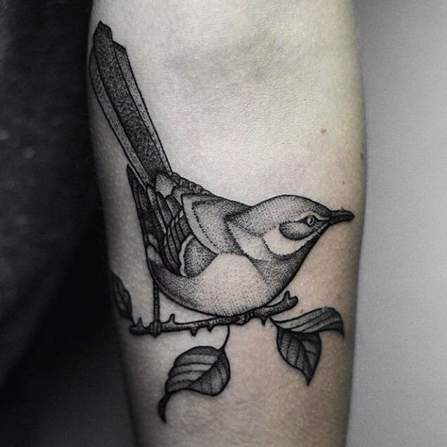 Bird tattoo by Bartek Wojda