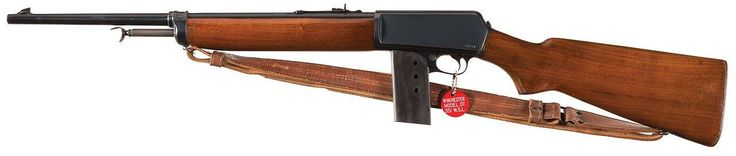 "peashooter85: ""Winchester Model 1907 semi automatic rifle with extrended ""police style"" magazine. from Rock Island Auctions """