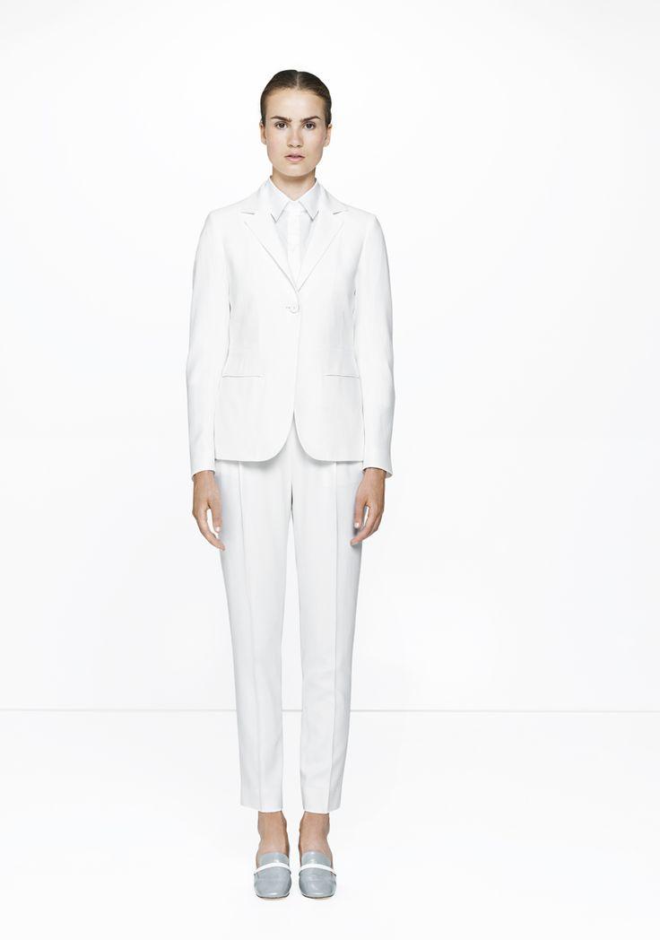 White suit & shirt /457-2901/541-2901/212-superlight  ELISE GUG SS15