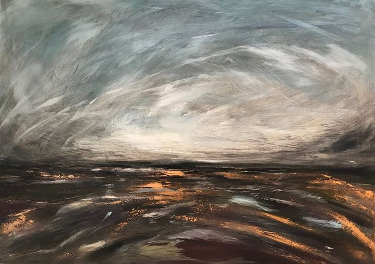 Buy Storm clouds over the saltmarsh, Mixed Media painting by Amanda Lakin on Artfinder. Discover thousands of other original paintings, prints, sculptures and photography from independent artists.