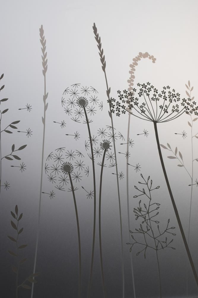 Paper Meadows Edge Window Film                      – Hannah Nunn #glass #decor #patterned #windowfilm #frosted