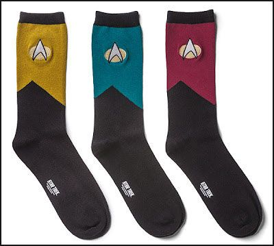 Star Trek The Next Generation Socks. @Rachel Bagdazian I want these for my barfday!