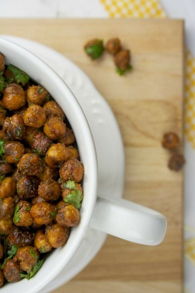 ROASTED CHILI LIME CHHICKPEAS] :: 1 can chickpeas, olive oil, lime ...