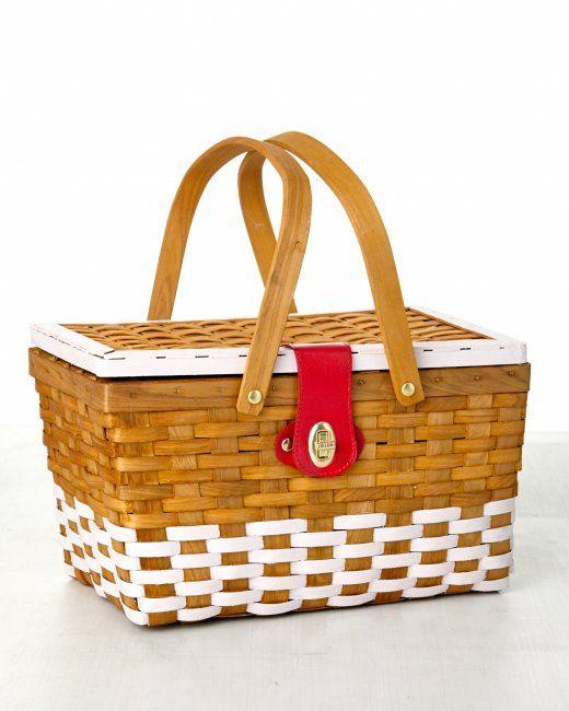 Custom-painted picnic baskets with #marthastewartcrafts