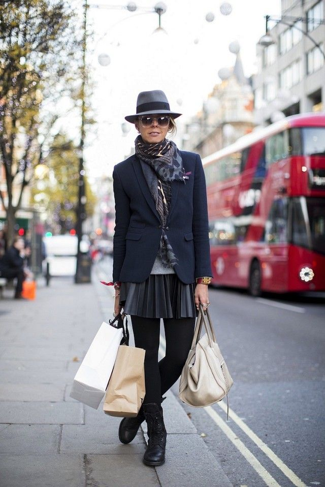11 Ways To Wear A Skirt During Winter via @WhoWhatWear