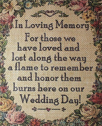 "8""x10"" Shabby Chic Vintage Primitive Country Wedding Shower Party Burlap Sign in Loving Memory for Those We Love Don't Go Away Rustic Root Designs http://www.amazon.com/dp/B00TBIVQ8W/ref=cm_sw_r_pi_dp_m518vb00V699J"