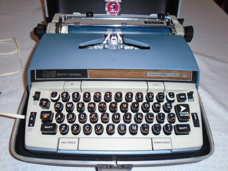 Vintage Electric Typewriter. /  Smith Corona Typewriter / Smith Corona Electra 210 / typewriter by Montyhallsshowcase on Etsy