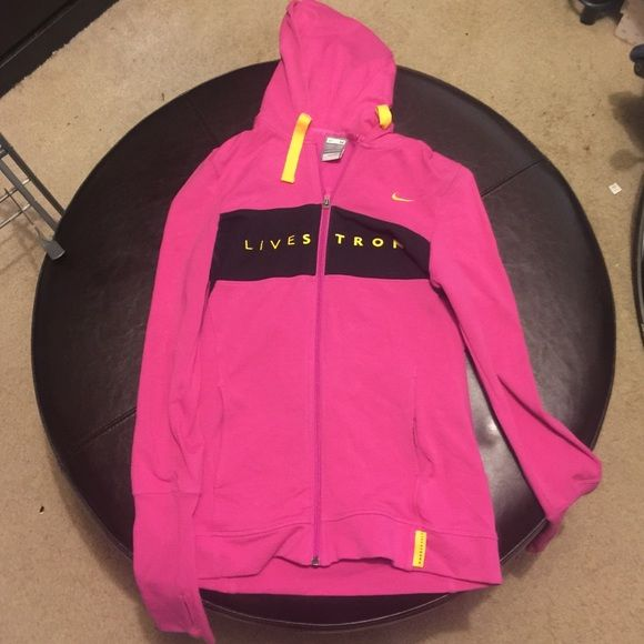 LIVE STRONG WOMENS ZIP UP Hot pink women's zip up. NIKE LIVESTRONG. No longer in stores size M Nike Jackets & Coats