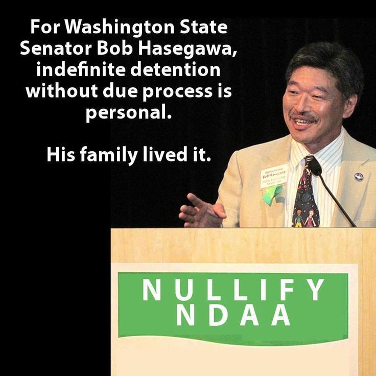 Senator Bob Hasegawa against #NDAA #PoliceState