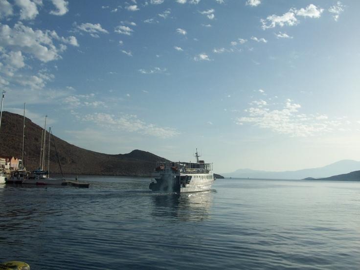 A beautifully calm sea as the last of the 2012 tourists leave Halki this season!