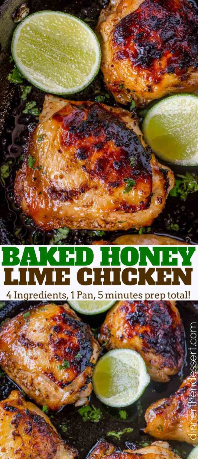 Baked Honey Lime Chicken with just 4 total ingredients browned then baked in the same skillet and the results are crispy, citrusy, sweet and tender. Baked Honey Lime Chicken Baked Honey Lime Chicken is packed with flavor with practically no effort whatsoever and just a small handful of ingredients. This dish is one of our …