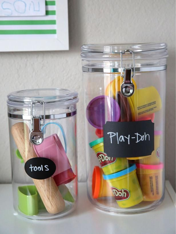 After: Small Toy Storage - Playroom Storage Ideas: 5 Household Items to Repurpose on HGTV