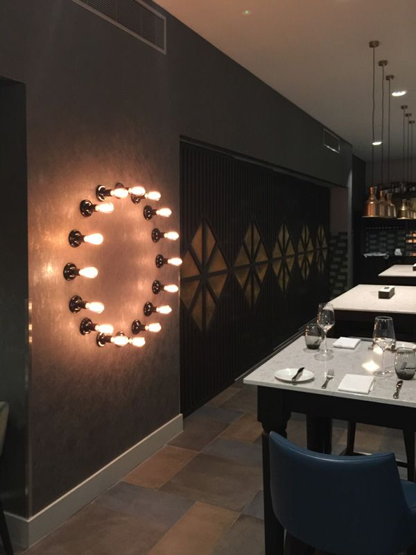 Lighting feature I Dexter Moren Associates interior design team I Hotel interior  design I Restaurant view