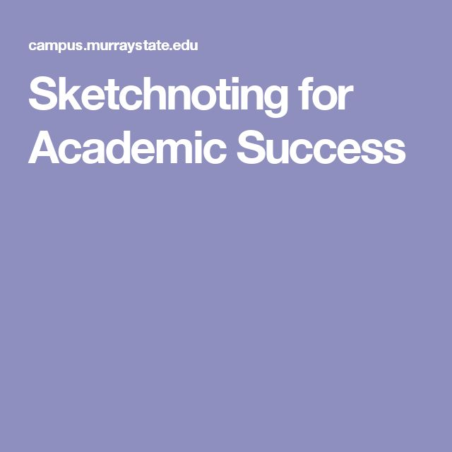 Sketchnoting for Academic Success
