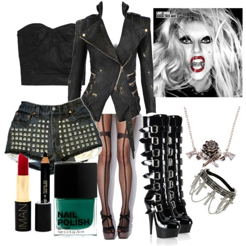 Biker Chick | Leather And Studs Themed Party Outfit Ideas | Pinterest | Biker Chick Bikers And ...