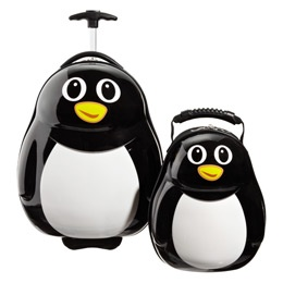 The Container Store > Percy the Penguin Rolling Luggage & Backpack