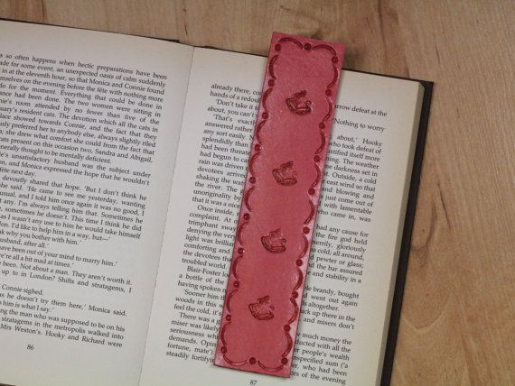Jingle Bells Bookmark  Hand Tooled Leather by TinasLeatherCrafts. RepinTo Remember.