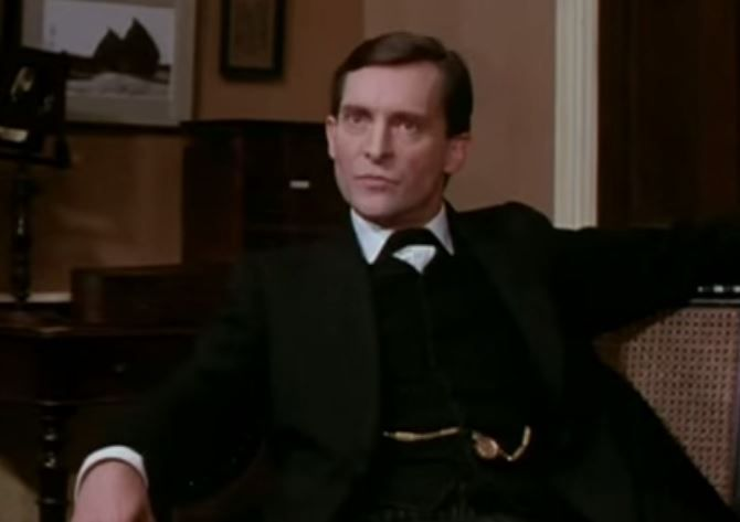 """Granada's """"The Speckled Band"""" has a snake that doesn't look tooimposing, but this episodehas great performances by Jeremy Brett and David Burke to make up for it. Arguably one of the most popula..."""