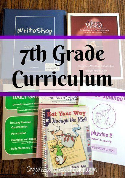 seventh Grade Curriculum Selections