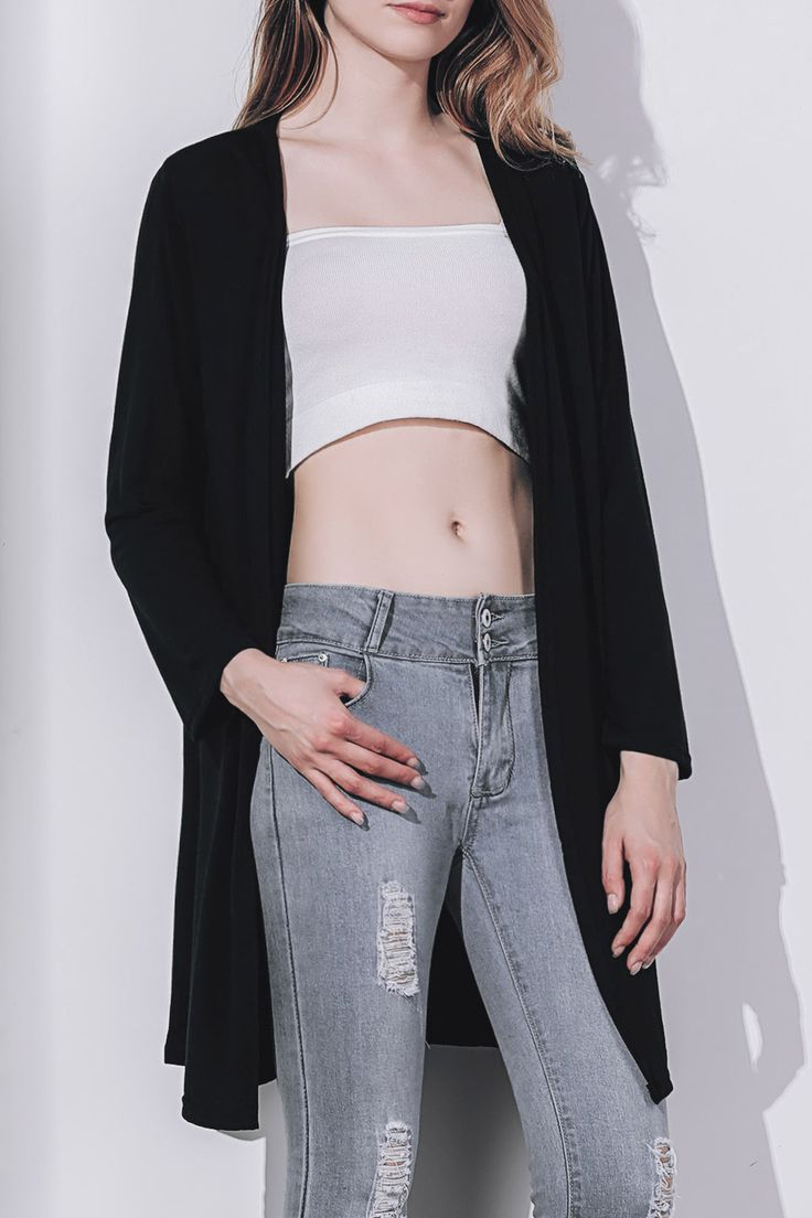 Women's Stylish Long Sleeve Solid Color Cardigan