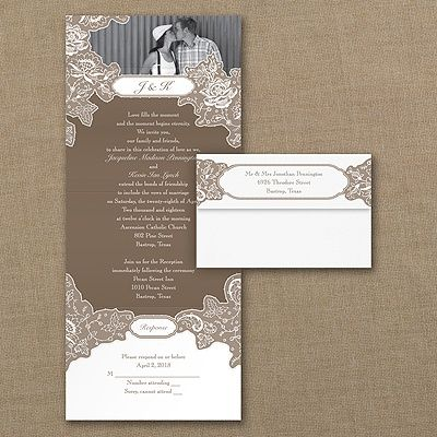 You Get To Choose The Colors For The Lacy Design On This Affordable Seal U0027n Send  Wedding Invitation To Make It ...