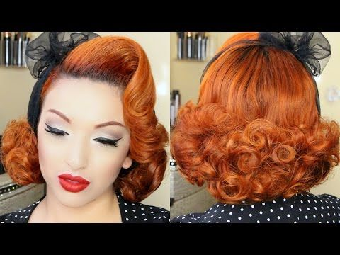 Classic Pinup Girl Hair Tutorial – YouTube – PinUp Doll Ashley Marie