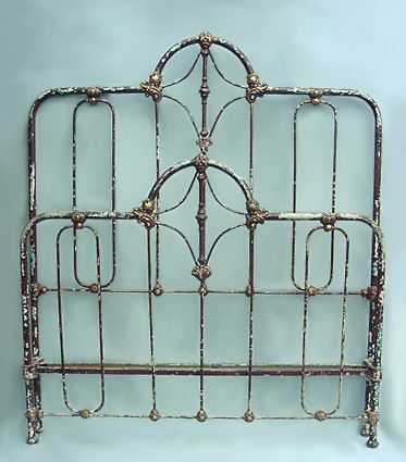 IRON BEDS, The American Iron Bed Co, Authentic Antique Iron Beds.  Beautiful headboard and footboard!