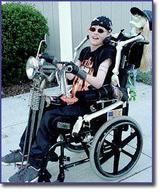"""Harley Motorcycle """"Biker"""" Wheelchair Costume"""