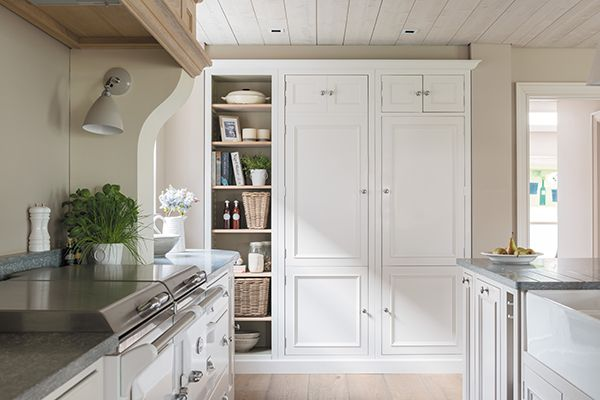 Chichester larder cabinet painted in Snow #neptune #kitchen www.neptune.com
