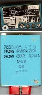 SONEX INC.VOLTAGE CONTROLLED OSCILLATOR TEX-3005SY