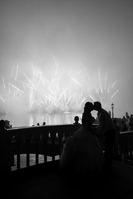 Walt Disney World newlyweds celebrate with a front row view of IllumiNations: Reflections of Earth