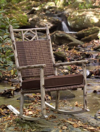 Nursery glider table : Rustic outdoor rocking chairs
