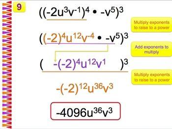 simplifying negative exponents worksheet pdf