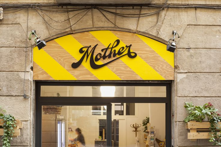 Sign design for cold pressed juice company Mother by Mucho