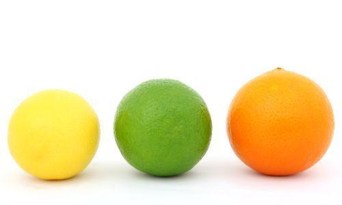 yellow, green, orange