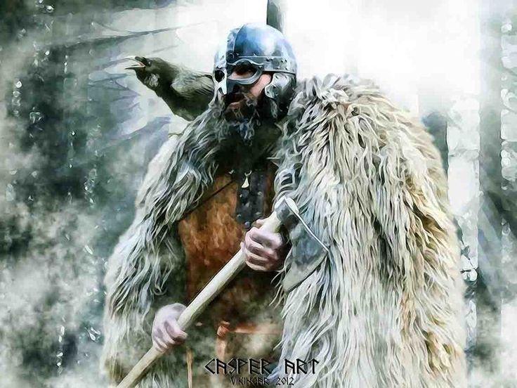 casper art viking wallpaper