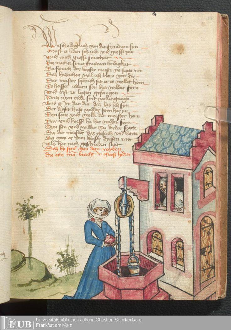 53 [25r] - Ms. germ. qu. 12 - Die sieben weisen Meister - Seite - Mittelalterliche Handschriften - Digitale Sammlungen