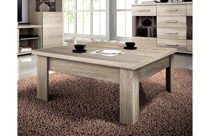 Table basse en bois clair - Meuble de salon en bois clair - Meuble et Canape.com