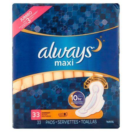 Always Maxi Pads Overnight - 33 CT