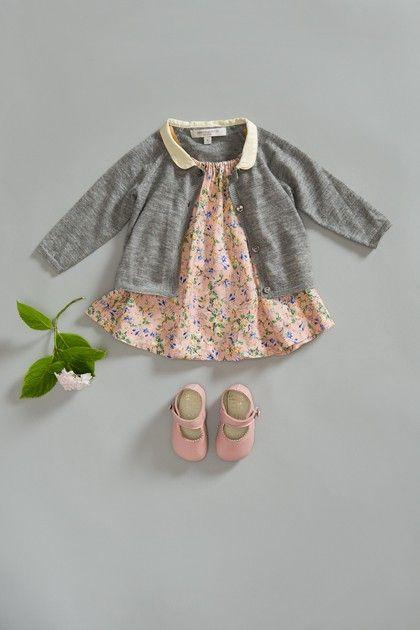 baby dress + cardigan