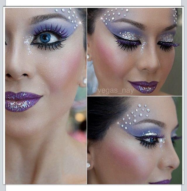 ice queen Halloween makeup