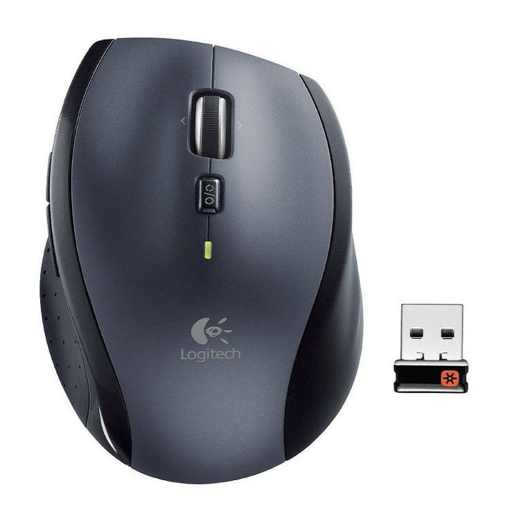 Logitech Marathon Wireless Mouse M705 Laser Unifying Receiver Speed Scroll  #Logitech